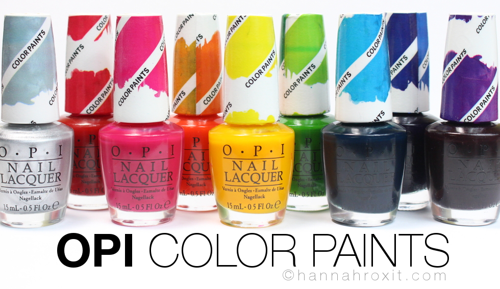 OPI Color Paints Review, Swatches, & Nail Art
