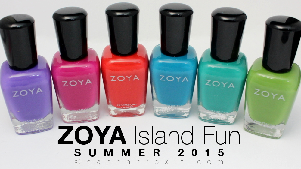 ZOYA Island Fun Summer 2015 – Swatches & Review