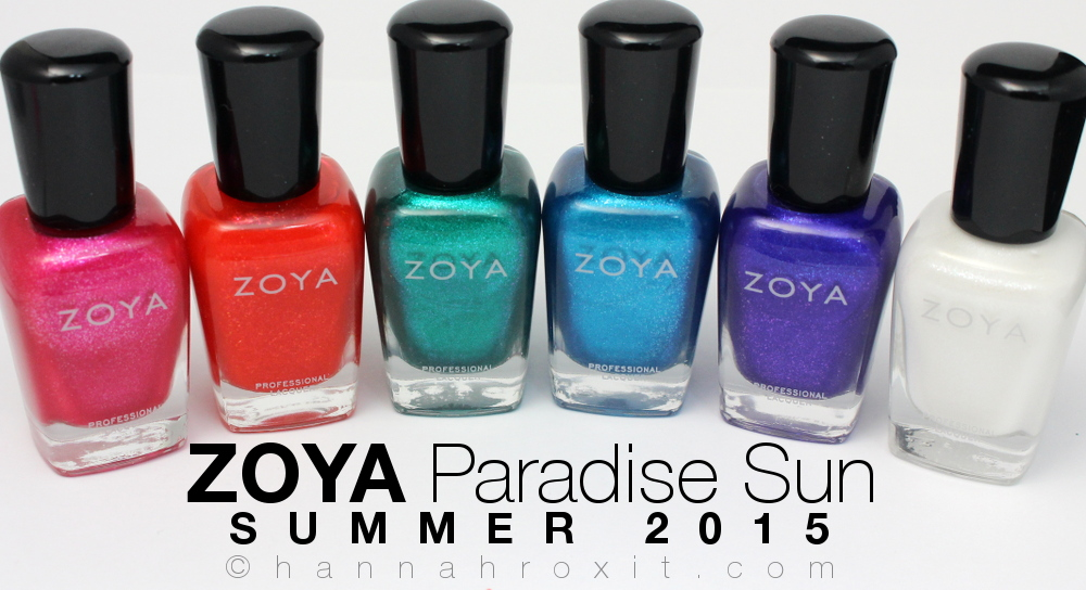 ZOYA Paradise Sun Summer 2015 – Swatches & Review