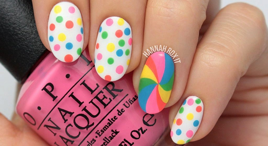 Tutorial: Candy Dot Lollipop Nail Art