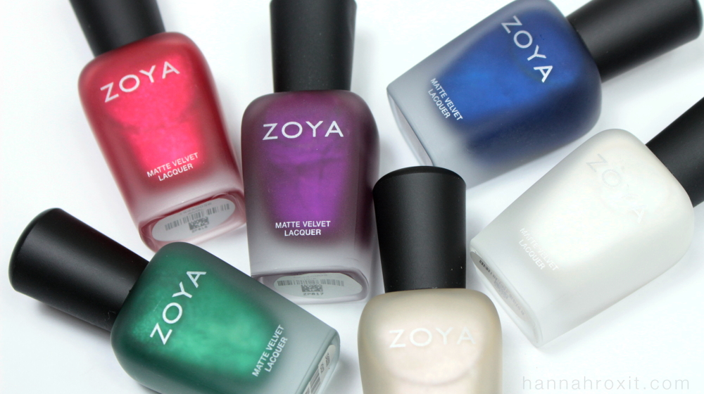 ZOYA Winter Holiday 2015 Matte Velvet Collection Review Swatches