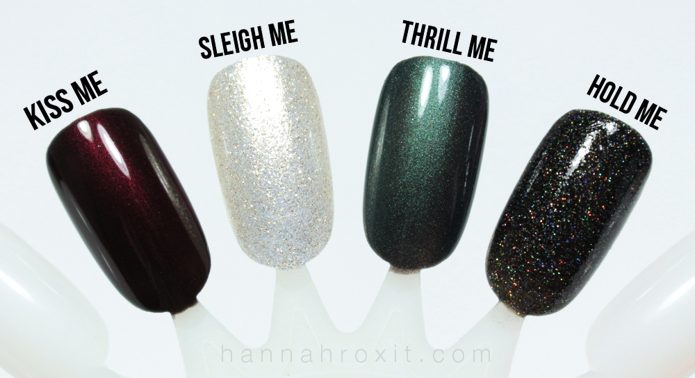 Dermelect Winter 2015 ME Holiday Collection Swatches