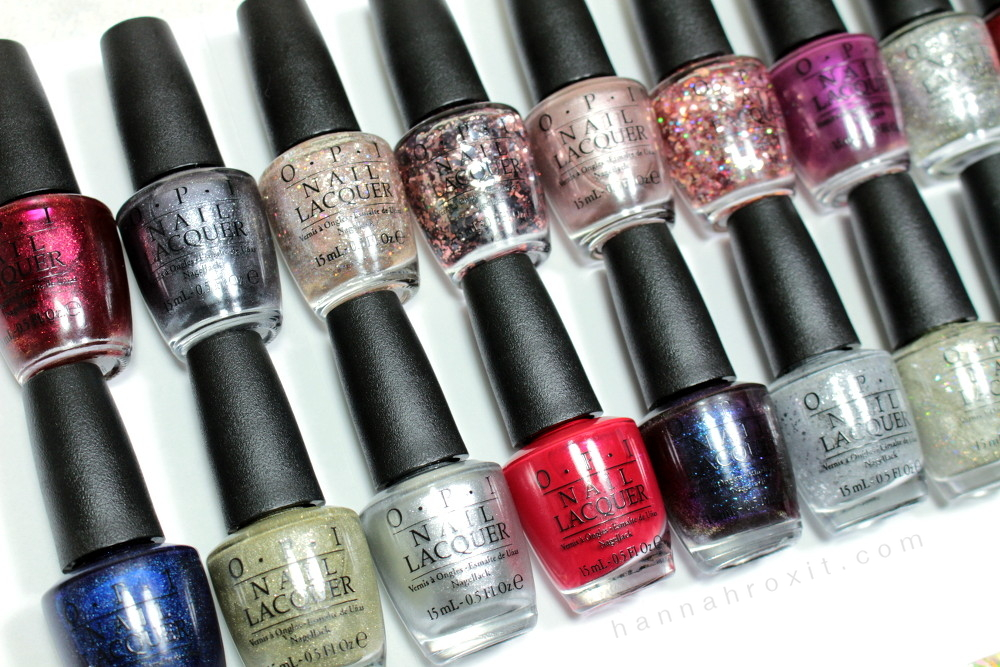 OPI Holiday Starlight 2015 Collection Swatches