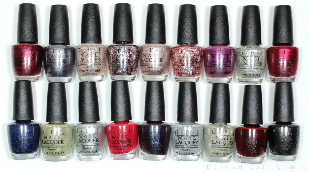 OPI Holiday 2015 Starlight Collection – Swatches & Review