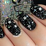 Tutorial: Starry New Year's Nail Art
