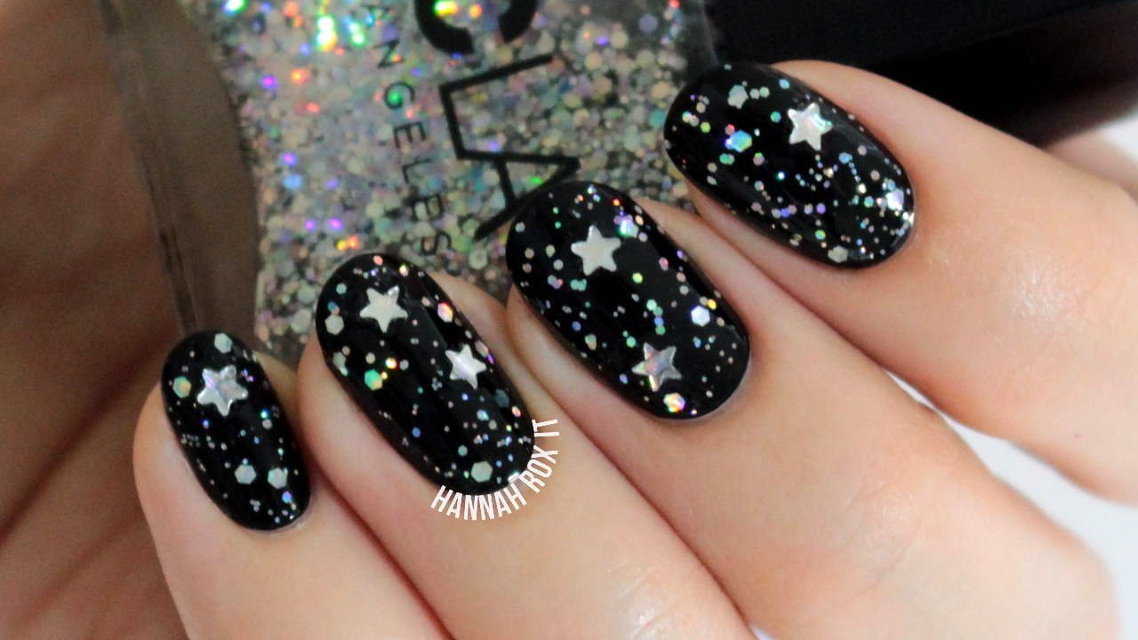 Starry New Year's Nail Art Tutorial
