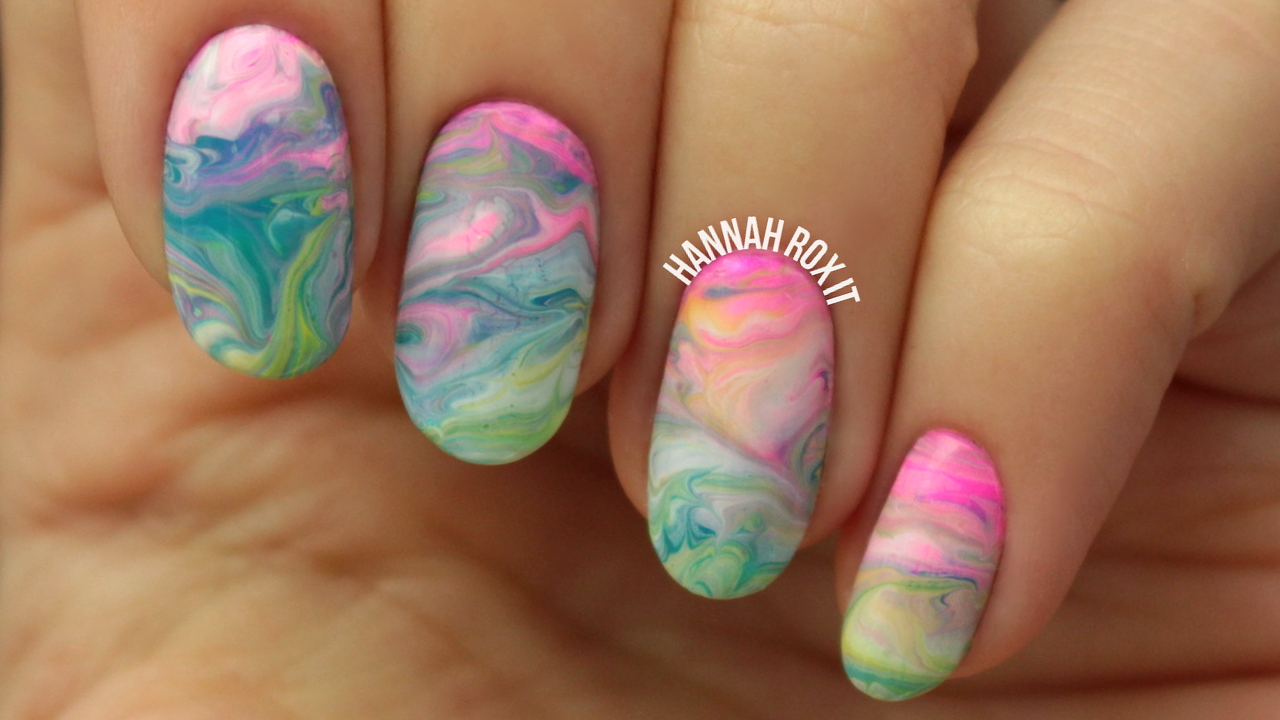 LUSH Bath Bomb Inspired Nail Art Tutorial