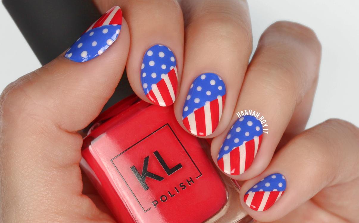 4th of July Nail Art with KL Polish! – Hannah Rox It