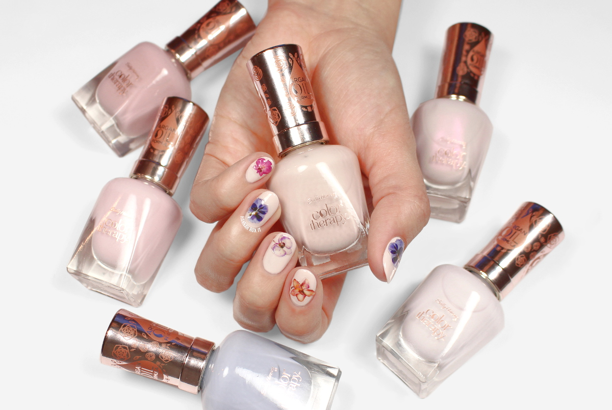 Sally Hansen Color Therapy Floral Review & Swatches