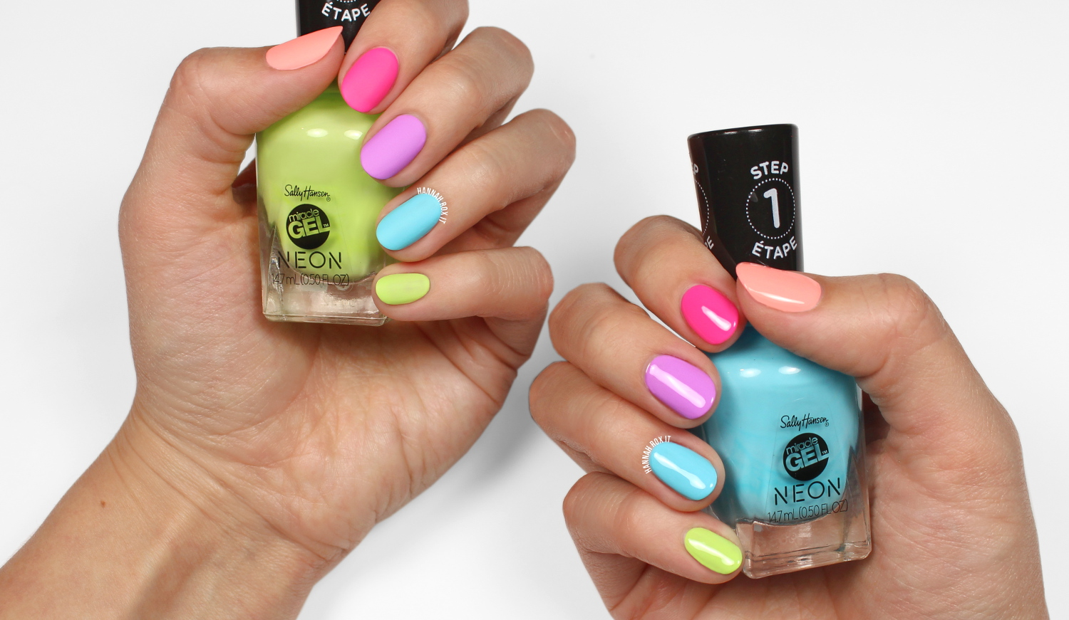 Sally Hansen Miracle Gel Neon Review & Swatches